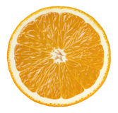 Orange half cut isolated on white background Royalty Free Stock Image