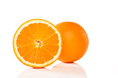 Orange and a half Stock Image