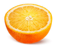 Orange. Half of fruit isolated on white. Royalty Free Stock Photography