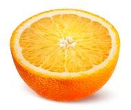 Orange. Half of fruit isolated on white. royalty free stock photography