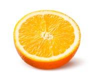 Orange. Half of fruit isolated on white. Stock Images