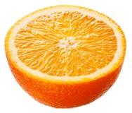 Orange. Half of fruit isolated on white background Royalty Free Stock Photos