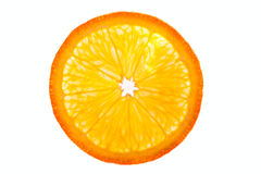 Orange half isolated Stock Photo