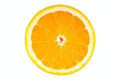 Orange half isolated Stock Photo