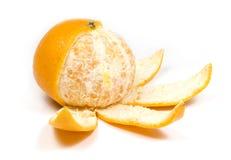Orange, half without peel Royalty Free Stock Photos