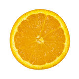 Orange with half sliced isolated on white background Royalty Free Stock Photos