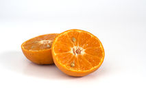 Orange. A half of orange on white background Stock Images