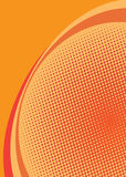 Orange halftone background Stock Images