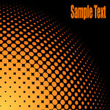 Orange halftone background Stock Photos