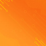 Orange Halftone Outline Royalty Free Stock Photos