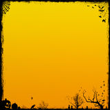 Orange Halloween Background Stock Photo