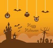 Orange halloween background Royalty Free Stock Photography