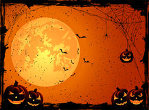 Orange Halloween background Stock Photos