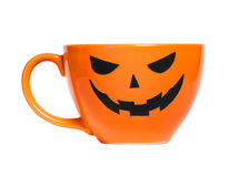 Orange Halloween coffee cup can used for promotion. Orange Halloween coffee cup can used for  drinks or coffee promotions Royalty Free Stock Image