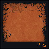 Orange Halloween grunge frame Royalty Free Stock Photo