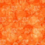 Orange Halloween pattern Royalty Free Stock Photos