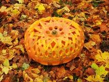 Orange halloween pumpa Royaltyfri Foto