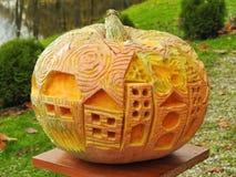 Orange halloween pumpa Arkivbild