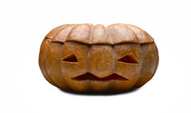 Orange halloween pumpkin Royalty Free Stock Image