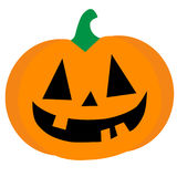 Orange halloween pumpkin. Carved, orange Halloween pumpkin vector Royalty Free Stock Photo
