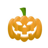 Orange Halloween pumpkin isolated on the white background Royalty Free Stock Photos