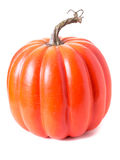 Orange Halloween Pumpkin on white Royalty Free Stock Photos