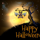 Orange Halloween Vampire Bat Background Stock Photos