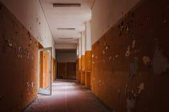 Orange hallway Stock Photo