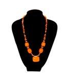Orange Halskette Stockfotos