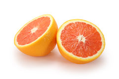 Orange halves Royalty Free Stock Photo