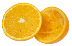 Orange in halves Royalty Free Stock Image