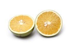 Orange halves. Photo of Orange halves on white background stock photo
