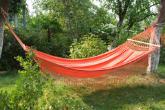 Orange hammock Stock Photo