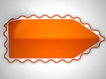 Orange hamous sticker or label Stock Photography