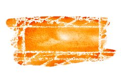 Orange hand drawn rectangle stock illustration