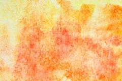 Orange hand-drawn watercolor background Stock Photo