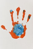 Orange Hand-print Royalty Free Stock Image