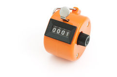 Orange Hand tally counter Royalty Free Stock Images