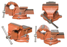 Orange hand vise tool. Stock Image