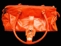 Orange Handbag Stock Image