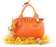 Orange handbag Royalty Free Stock Photography