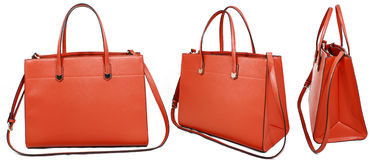 Orange handbag Royalty Free Stock Images