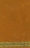 Orange Handmade Paper. A handmade paper in traditional hindu orange color with a an artistic golden signing strip below Royalty Free Stock Images