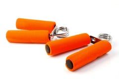 Orange Handtrainer Stockbilder