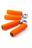 Orange Handtrainer lokalisiert Lizenzfreie Stockfotografie
