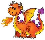 Orange happy dragon Stock Photography