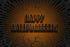 Orange Happy Halloweeeeen Sign Royalty Free Stock Photography