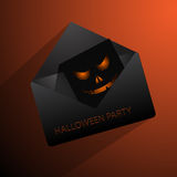 Orange Happy Halloween mail  eps 10 Royalty Free Stock Photography