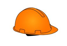 Orange hard cap Stock Photo