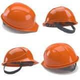 Orange hard hat. 3d. Stock Photo